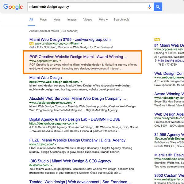 Miami SEO Company - #1 SEO Agency in Miami, FL - POP Creative